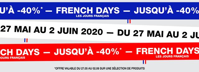 French Days : jusqu'à -40%